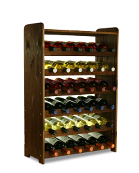 Weinregal für 36  Flaschen RW-3-36P (63X26,5X91,5), Unbehandelt, Erlen, Braun