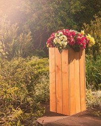 Blumenkübel aus Holz Serie RD-1-70, 70x27x31 cm