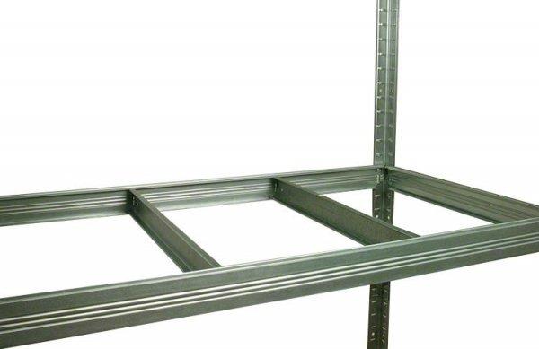 Metallregal Steck-Lager- Schwerlastregal bis 400 kg pro Boden , verzinkt , HZ_180x120x50, 4 Böden