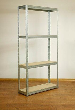Metallregal Steck-Lager- Schwerlastregal bis 400 kg pro Boden , verzinkt , HZ_180x110x30, 4 Böden