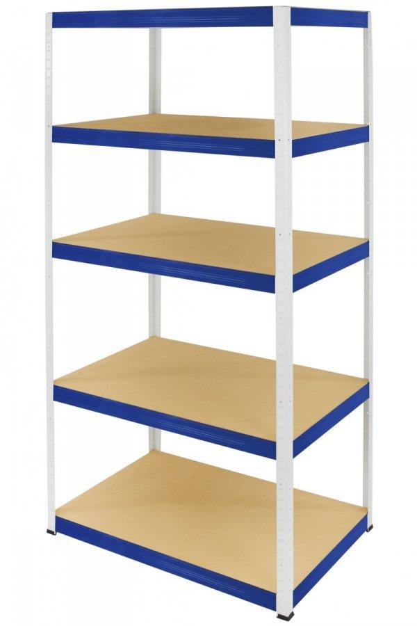 Metallregal Werkstatt Schwerlastregal Helios 090x090x45_3 Böden, Tragkraft bis 400 Kg pro Boden,  Viele Farben zur Auswahl