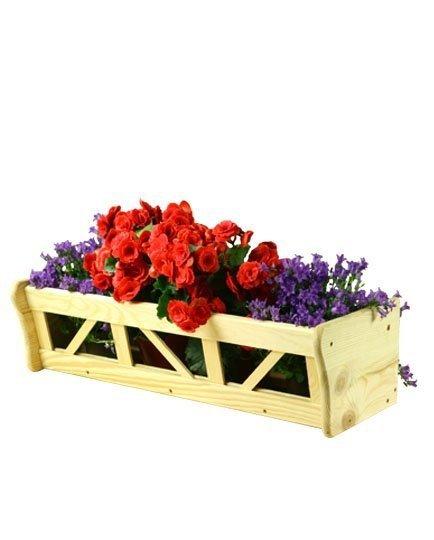 Blumenkasten aus Holz RP-05-64,  17x64x21 Pflanzkasten