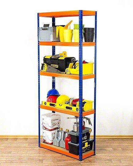 Metallregal Werkstatt Schwerlastregal Helios 196x110x40_5 Böden, Tragkraft bis 400 Kg pro Boden,  Viele Farben zur Auswahl