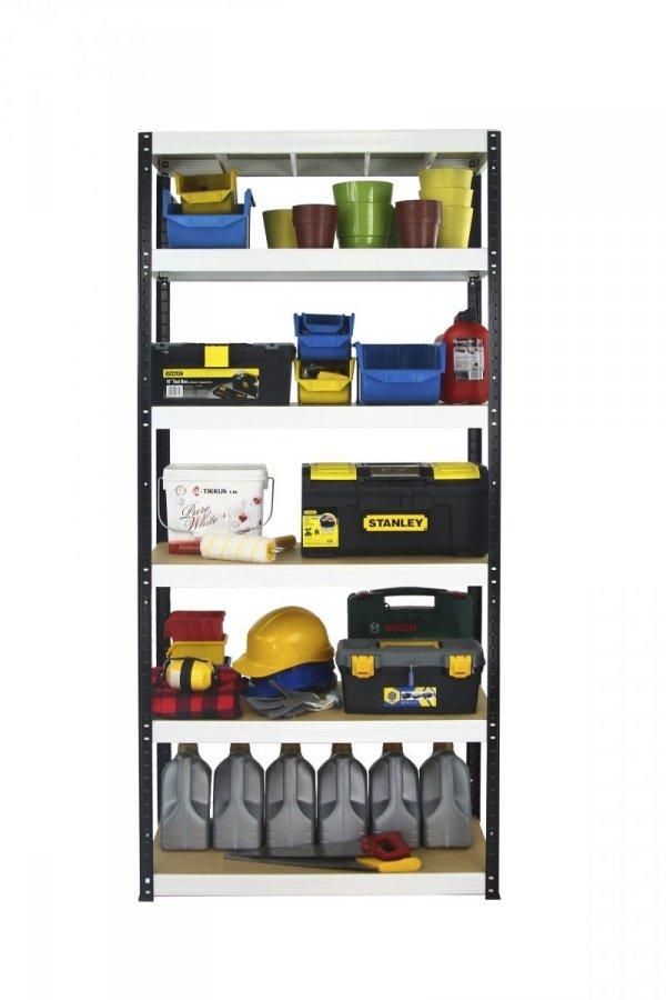 Metallregal Werkstatt Schwerlastregal Helios 196x090x40_6 Böden, Tragkraft bis 400 Kg pro Boden,  Viele Farben zur Auswahl