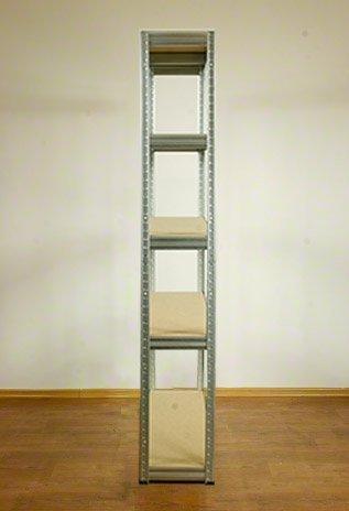 Metallregal Steck-Lager- Schwerlastregal bis 400 kg pro Boden , verzinkt , HZ_180x120x35, 5 Böden