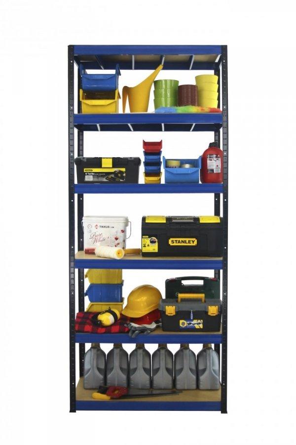 Metallregal Werkstatt Schwerlastregal Helios 196x090x45_6 Böden, Tragkraft bis 400 Kg pro Boden,  Viele Farben zur Auswahl