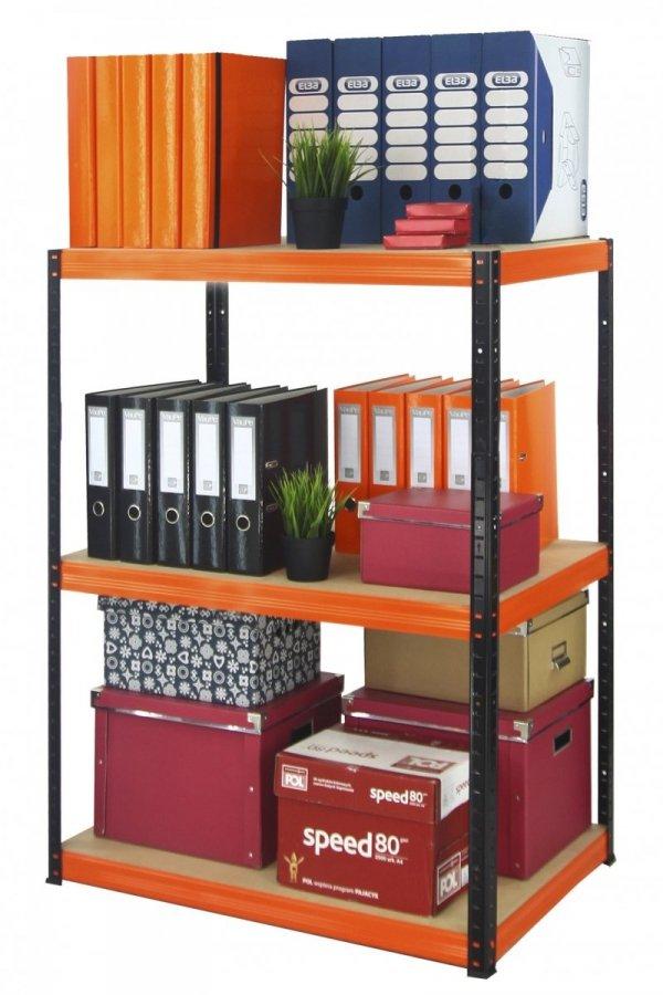 Metallregal Werkstatt Schwerlastregal Helios 106x120x35_3 Böden, Tragkraft bis 400 Kg pro Boden,  Viele Farben zur Auswahl
