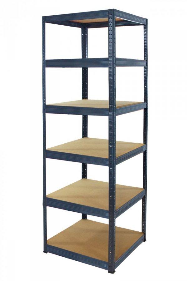 Metallregal Werkstatt Schwerlastregal Helios 213x050x50_5 Böden, Tragkraft bis 175 Kg pro Boden,  Viele Farben zur Auswahl, Quadratisch