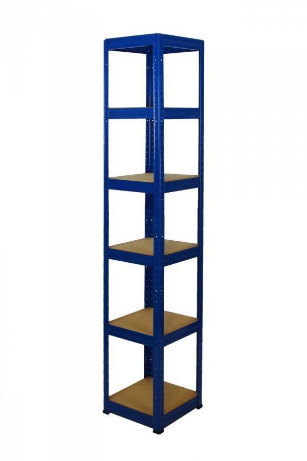 Metallregal Werkstatt Schwerlastregal Helios 196x040x40_6 Böden, Tragkraft bis 175 Kg pro Boden,  Viele Farben zur Auswahl, Quadratisch