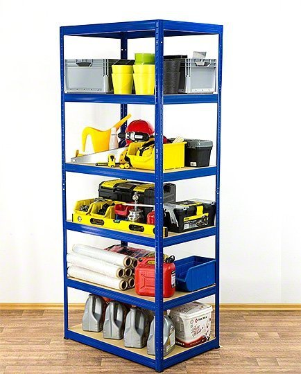 Metallregal Werkstatt Schwerlastregal Helios 196x110x45_6 Böden, Tragkraft bis 400 Kg pro Boden,  Viele Farben zur Auswahl