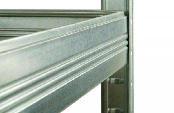 Metallregal Steck-Lager- Schwerlastregal bis 400 kg pro Boden , verzinkt , HZ_213x075x50, 5 Böden