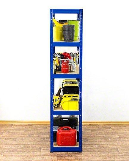 Metallregal Werkstatt Schwerlastregal Helios 180x090x40_5 Böden, Tragkraft bis 400 Kg pro Boden,  Viele Farben zur Auswahl