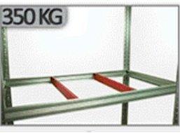 Metallregal Steck-Lager- Schwerlastregal bis 400kg pro Boden , verzinkt , HZ_180x075x30, 5 Böden
