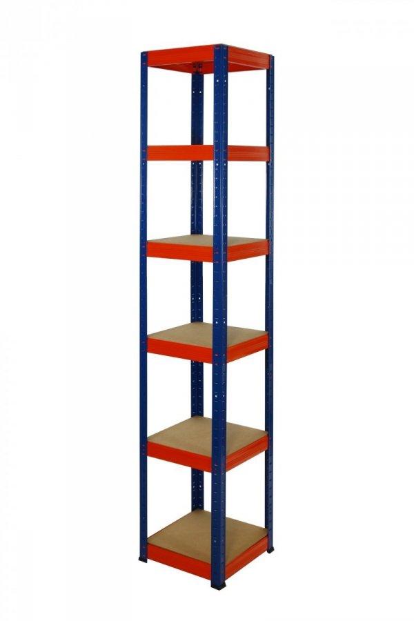 Metallregal Werkstatt Schwerlastregal Helios 196x030x30_6 Böden, Tragkraft bis 175 Kg pro Boden,  Viele Farben zur Auswahl, Quadratisch