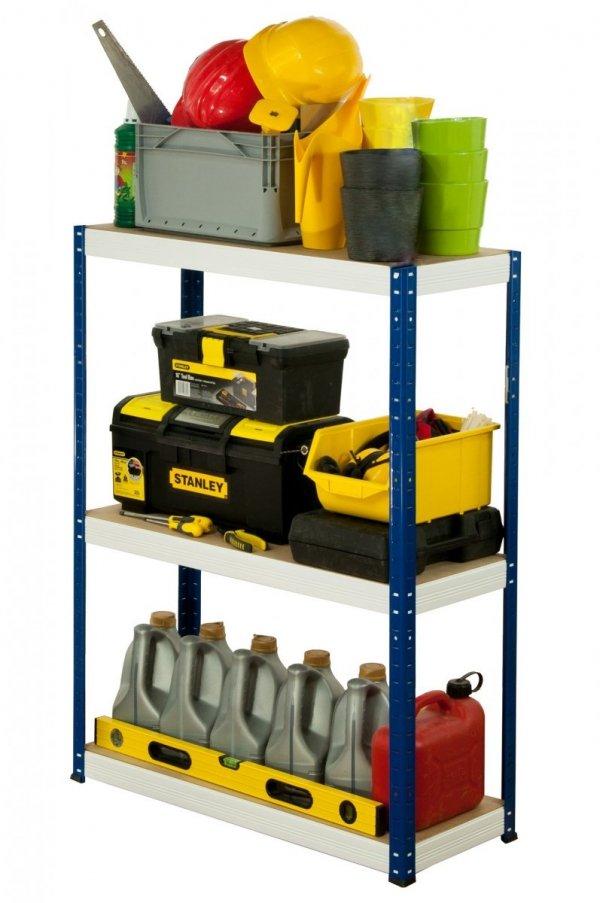 Metallregal Werkstatt Schwerlastregal Helios 106x100x30_3 Böden, Tragkraft bis 400 Kg pro Boden,  Viele Farben zur Auswahl
