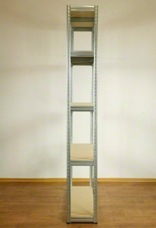 Metallregal Steck-Lager- Schwerlastregal bis 400 kg pro Boden , verzinkt , HZ_196x120x40, 5 Böden