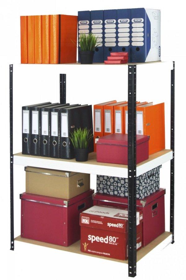 Metallregal Werkstatt Schwerlastregal Helios 106x060x60_3 Böden, Tragkraft bis 175 Kg pro Boden,  Viele Farben zur Auswahl, Quadratisch