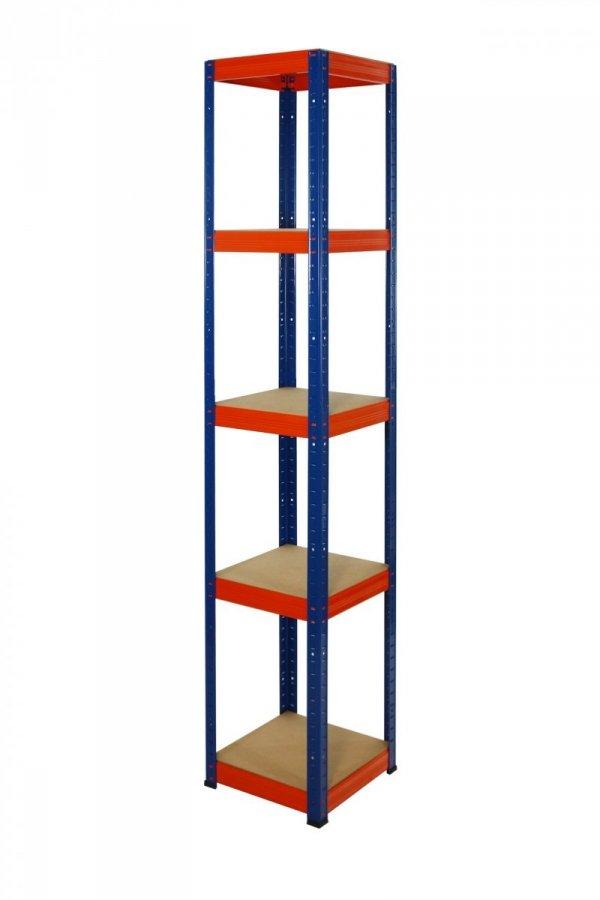 Metallregal Werkstatt Schwerlastregal Helios 196x060x60_5 Böden, Tragkraft bis 175 Kg pro Boden,  Viele Farben zur Auswahl, Quadratisch