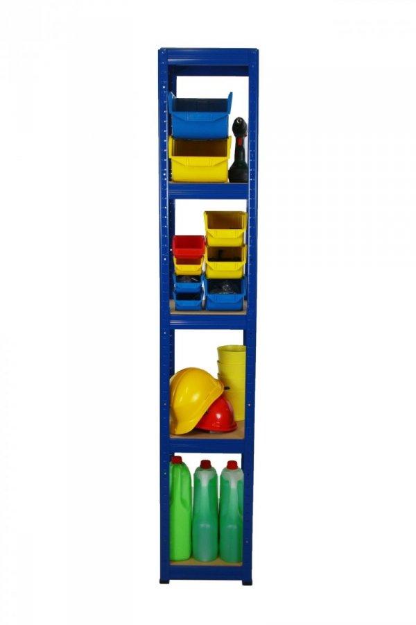 Metallregal Werkstatt Schwerlastregal Helios 180x035x35, 5 Böden, Tragkraft bis 175 Kg pro Boden,  Viele Farben zur Auswahl, Quadratisch