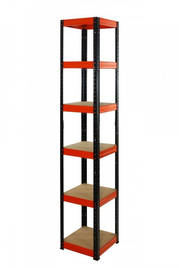 Metallregal Werkstatt Schwerlastregal Helios 213x040x40_6 Böden, Tragkraft bis 175 Kg pro Boden,  Viele Farben zur Auswahl, Quadratisch