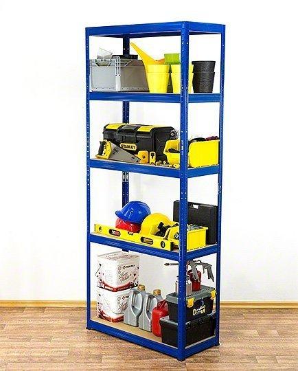 Metallregal Werkstatt Schwerlastregal Helios 196x090x30_5 Böden, Tragkraft bis 400 Kg pro Boden,  Viele Farben zur Auswahl