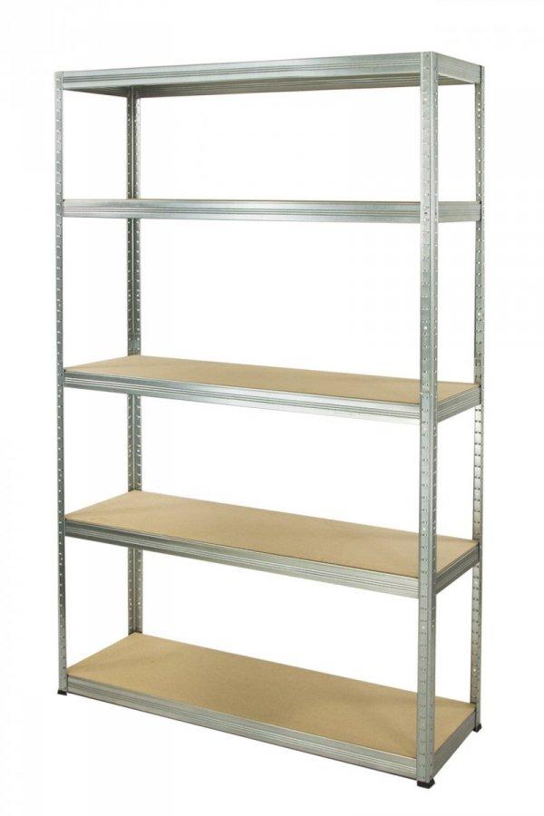 Metallregal Steck-Lager- Schwerlastregal bis 400kg pro Boden , verzinkt , HZ_213x090x30, 5 Böden
