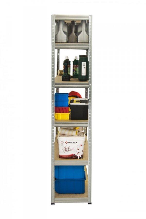 Metallregal Steck-Lager- Schwerlastregal bis 400kg pro Boden , verzinkt , HZ_196x120x30, 6 Böden