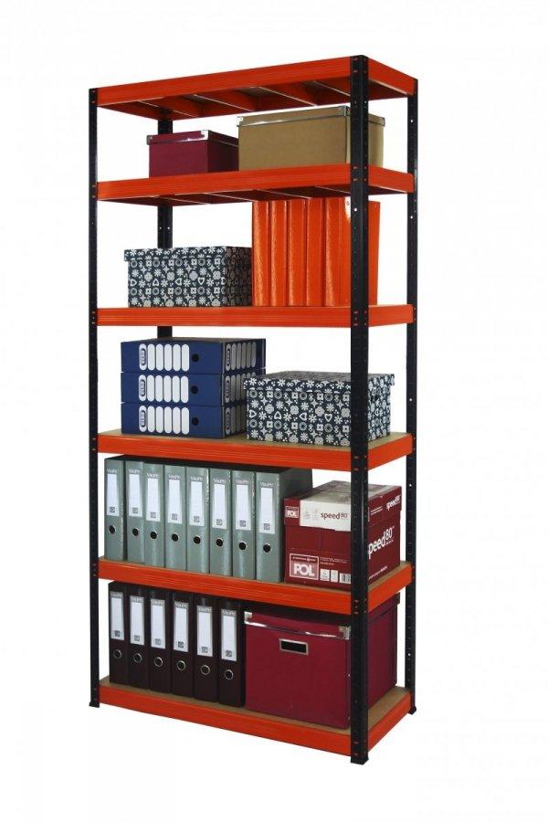 Metallregal Werkstatt Schwerlastregal Helios 213x075x35_6 Böden, Tragkraft bis 400 Kg pro Boden,  Viele Farben zur Auswahl