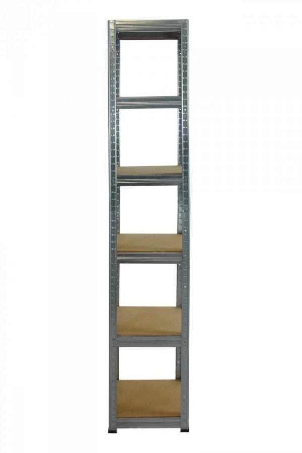 Metallregal Steck-Lager- Schwerlastregal bis 175 kg pro Boden , verzinkt , HZ_196x040x40, 6 Böden, Quadratisch