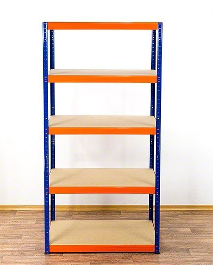 Metallregal Werkstatt Schwerlastregal  bunt farbig  Helios 196x075x30 5 Stabil
