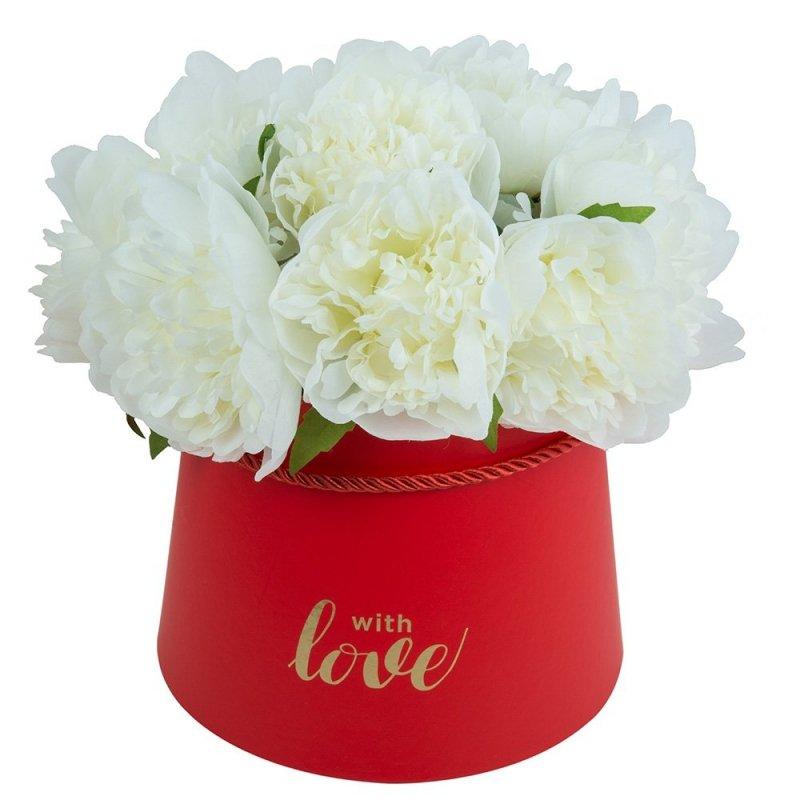 Flower Box Trapez Czerwony Średni