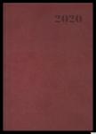 Kalendarz 2020 TOP 2000 Standard A5 tydzień na rozkładówce, bordowy 400126104