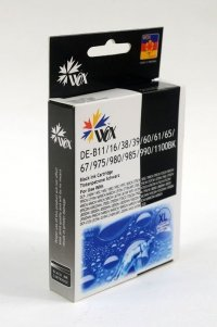 Tusz Wox Black BROTHER LC980BK/LC985BK/LC11<br />00BK zamiennik LC-980BK / LC-985BK / LC-1100BK