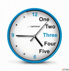 Zegar ścienny PRAGUE niebieski EHC014B ESPERANZA