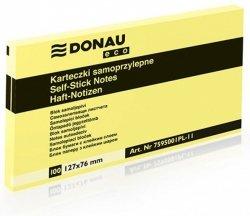 Bloczek samoprzylepny DONAU Eco, 127x76mm, 1x100 kart., jasnożółty