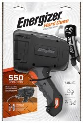 Latarka ENERGIZER Hard Case Led, recharchable, czarna