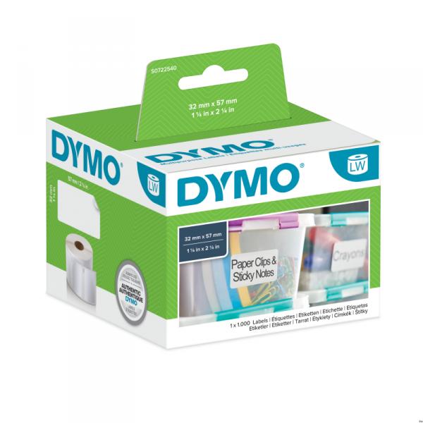 Etykiety DYMO różnego przeznaczenia - 57 x 32 mm, biały S0722540