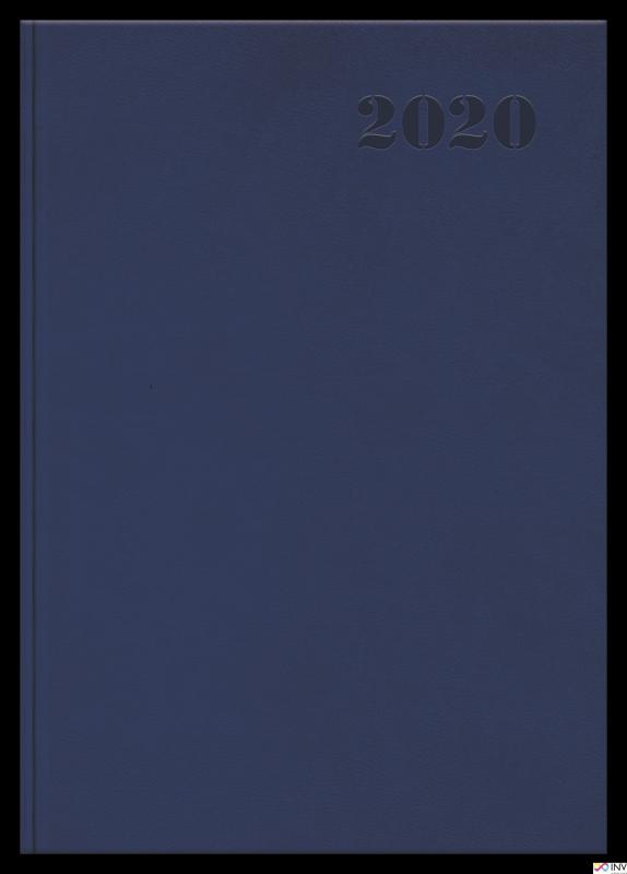Kalendarz 2020 TOP 2000 Standard A5 dzień na stronie, granatowy 400126103