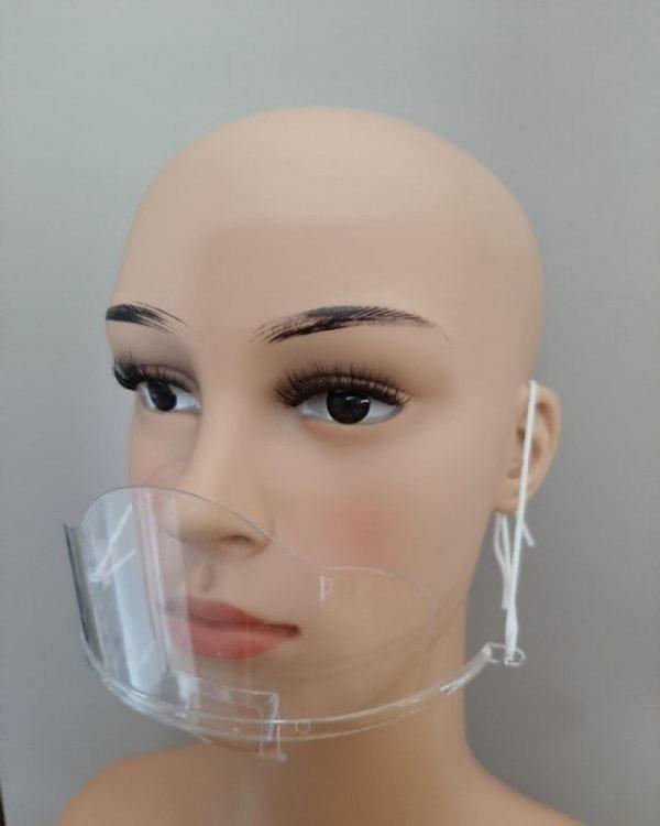 Mini przyłbica ochronna, wieokrotnego użytku, 1szt., transparentna