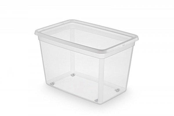 Pojemnik do przechowywania ORPLAST Basestore Box, na kółkach, 60l, (390 x 375 x 580mm), transparentny