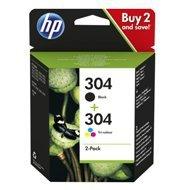 Zestaw tuszy HP 304 2-pack   czarny, trójnokolorowy  