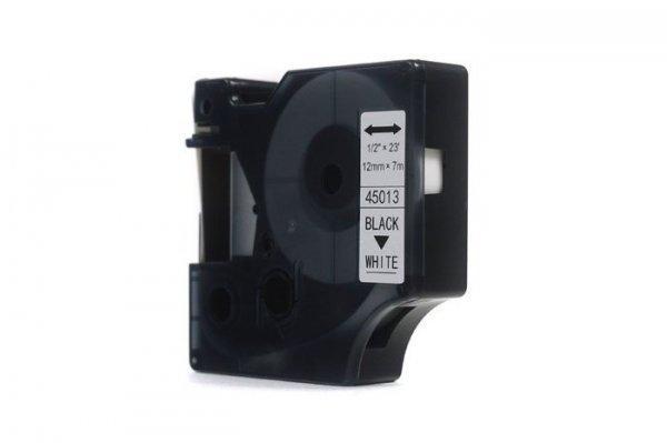 Taśma Dymo D1 Czarny na Białym 12mm x 7m  LM100, LM110, LM120, LM150, LM160, LM200, LM210D, LM220, LM260, LM280, LM300 (45013) (