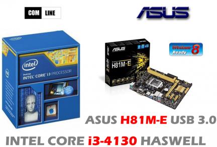 INTEL CORE i3-4130 ASUS H81M-E KINGSTON 4GB 1600MHz
