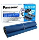 Folia Panasonic do faksów KX-F1110/1015 KX-FP121/131PD | 2 x 336 str. | black