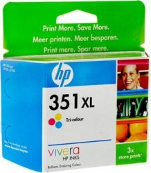 Tusz HP No 351xl kolor CB338E poj. 14ml do DeskJet D4260 / D4263 Photosmart C4250 / C4270