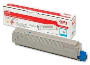 Toner oryginalny OKI 43487711 cyan do OKI C8600 / C8600n / C8800 / C8800n na 6 tys. str.