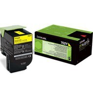 Kaseta z tonerem Lexmark 702Y do CS-310/410/510 | zwrotny | 1 000 str. | yellow