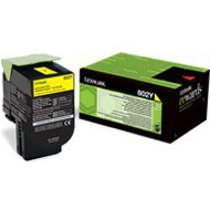 Kaseta z tonerem Lexmark 802Y do CX-310/410/510 | zwrotny | 1 000 str. | yellow