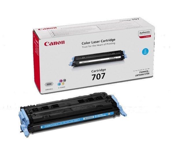Toner oryginalny Canon 707 cyan LBP-5000 LBP-5100 na 2 tys CRG707