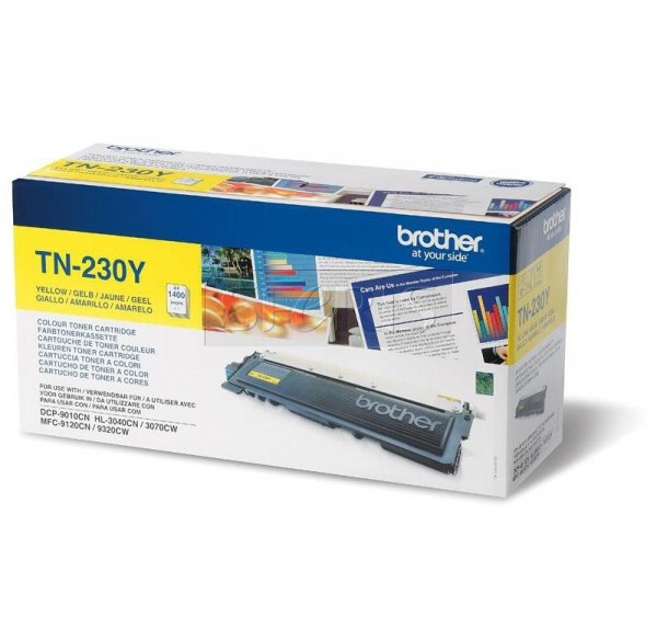 Toner oryginalny Brother TN230Y yellow do  HL-3040CN / HL-3070CW / DCP-9010CN / MFC-9120CN / MFC-9320CW na 1,4 tys. str. TN-230Y